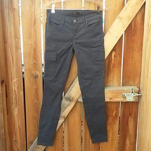 Prana skinny pants size 4 gray cargo pockets